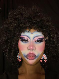 Drag Queen Makeup, Drag Makeup, Skin Makeup, Beauty Makeup, Makeup Goals, Makeup Inspo, Makeup Inspiration, Creative Makeup Looks, Simple Makeup