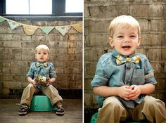 Adorable bowtie wearing little lad!