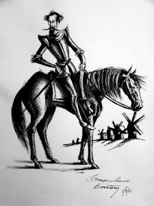 Don Quijote y Rocinante Man Of La Mancha, Dom Quixote, Don Miguel, Line Art Tattoos, Wood Burning Art, The Orator, Graphite Drawings, Chivalry, Art Lesson Plans