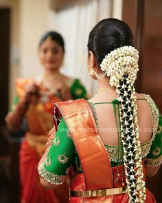 South Indian Bride Hairstyle Receptions Bridal Hair _ South Indian Bride Hairstyle Receptions – beautiful hair styles for wedding South Indian Wedding Hairstyles, Bridal Hairstyle Indian Wedding, Indian Bridal Makeup, Bridal Makeup Looks, Wedding Hairstyles For Long Hair, Indian Hairstyles, Bride Hairstyles, Saree Hairstyles, South Indian Hairstyle