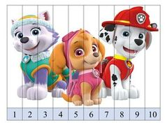 puzzle-de-numeros-patrulla-canina-con-superimagenes5 Early Education, Kids Education, Math Games, Preschool Activities, Math For Kids, Crafts For Kids, Star Students, Paw Patrol Party, Winter Kids
