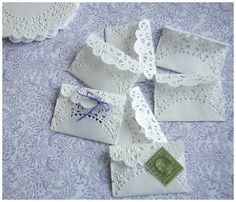 These would be sweet little envelopes to hold love notes tucked away for a loved one to find.