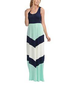 Black & Mint Chevron Maxi Dress - Plus by Celeste #zulily #zulilyfinds