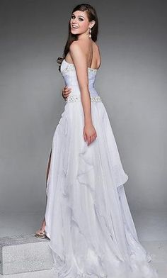 She is looking wow in this wedding dress <3
