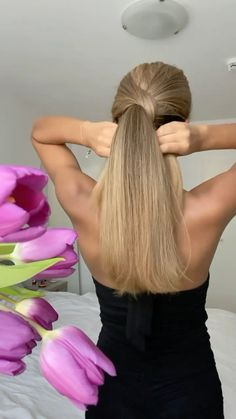 Hairdo For Long Hair, Bun Hairstyles For Long Hair, Braided Hairstyles, Hair Ponytail Styles, Curly Hair Styles, Hair Style Vedio, Hair Upstyles, Hair Videos, Hair Hacks