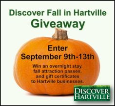 Discover Fall in Hartville, Ohio Giveaway 3 prize packages- the grand prize includes an overnight stay and is worth $450!