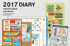 2016 DIARY for TRAVELER'S notebook. The Plastic Sheet and Customized Sticker Set…