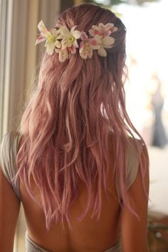 i want spring #hair #style #hairstyle #color #haircolor #colorful #women #girl #style #trend #fashion #long #pink