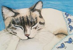 Tweet Dreams,  Print is offered in different sizes. Fine Art America.com Art by Katie Neese