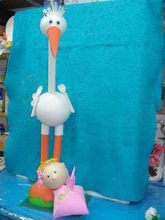 Ideas para baby shower en foamy y goma eva | Aprender manualidades ...