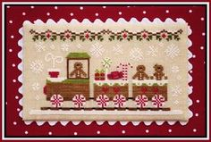 COUNTRY COTTAGE NEEDLEWORKS - Gingerbread Train - Gingerbread Village Series