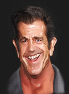 Mel Gibson Caricature by Andrew Oakley - Photoshop Creative