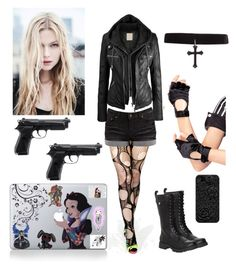 """Mai Amane - Death Note OC"" by shadow-cheshire ❤ liked on Polyvore featuring Volatile, Pieces, Leg Avenue, women's clothing, women, female, woman, misses and juniors"