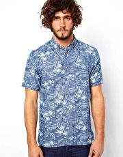 Penfield Shirt with Palm Tree Print