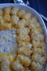 Tater Tot Hotdish/Casserole « Get Saucy in Your Kitchen with Saucy Mouth!