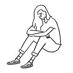 Girl Drawing Sketches, Line Drawing, Line Illustration, Character Illustration, Minimalist Drawing, Simple Art, Aesthetic Art, Drawing People, Easy Drawings