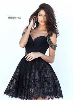 Binkelam'ın Kardeşi: Sherri Hill 2016 Sonbahar Kış Siyah Abiye Modelleri