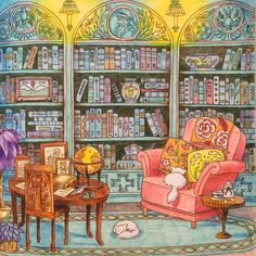 Eriy's Romantic Country - Reading Nook in the Library