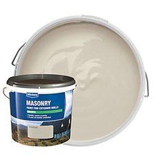 Wickes Smooth Masonry Paint - Sandstone 5L | Wickes.co.uk Painted Pebbledash, Pebble Dash, Masonry Paint, Paint Brick, Side Extension, Brick Garden, Grey Brick, Paint Brands, Grey Paint