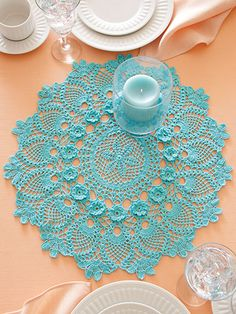 Crochet - Doily Patterns - Pineapple Patterns - Gardenias in Bloom