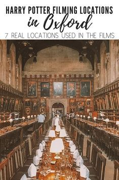 There are 7 Harry Potter film locations to be found in Oxford, the city of dreaming spires. If you're visiting England and you're a Harry Potter fan then take a day trip to Oxford and visit these Harry Potter locations! Take my free Harry Potter tour of O Oxford Harry Potter, Parc Harry Potter, Harry Potter Places, Harry Potter Filming Locations, Harry Potter Tour, Oxford England, London England, Voyage Europe, Harry Potter Pictures