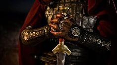 Imagen de knight, armor, and red