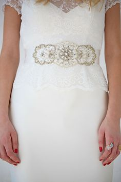 CB-55 | Diamante Belt | Satin Wedding Dress Belt | Charlotte Balbier