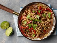 Get Thai Beef with Peppers Recipe from Food Network.  Neta loves how good tasting & easy this recipe is.
