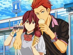 Free! ~~ FINALLY! Licensed artwork that lives up to my preference for this adorable couple! :: Lawson's, Gou, and Seijuro