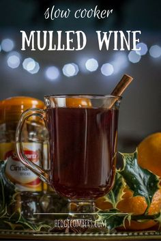 This slow cooker mulled wine will surely get you in the Christmas spirit! And as it's made in the slow cooker, you can put it on and forget about it. Easy Drink Recipes, Coffee Recipes, Snack Recipes, Snacks, Cocktail Recipes, Savoury Recipes, Dessert Recipes, Christmas Food Gifts, Homemade Christmas Gifts