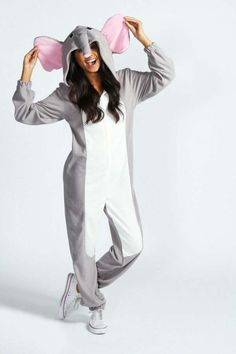 Elephant Animal Adult Womens Onesie