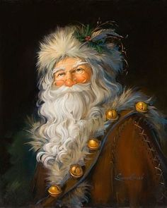 New 'Christmas Art 'Father Christmas' by Susan Comish Graphic Art Print by Great Big Canvas. Home Decor Furniture from top store Christmas Wall Art, Noel Christmas, Victorian Christmas, Father Christmas, Vintage Christmas Cards, Winter Christmas, Christmas Mantles, Pink Christmas, Christmas Presents