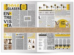 Doble página de periódico no convencional. on Behance