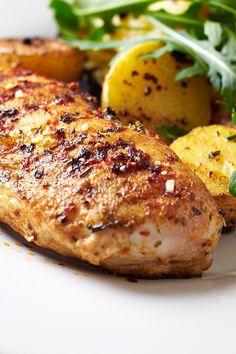 Skinny Garlic Brown Sugar Chicken and Potatoes Recipe