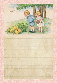 Children & Spring Chicks: 6.5 x 10