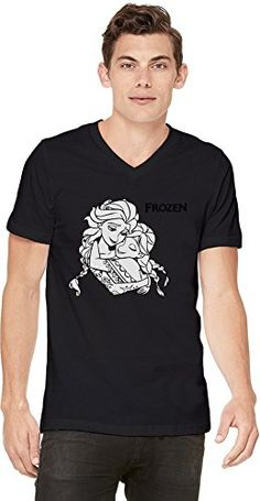 Frozen Hug Camiseta con cuello en V de los hombres Medium #camiseta #starwars #marvel #gift