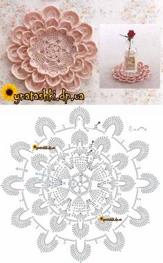 Best 11 15 diy crochet flower patterns 1001 crochet by – Artofit – SkillOfKing. Crochet Feather, Crochet Mandala, Crochet Art, Crochet Home, Crochet Motif, Crochet Crafts, Crochet Stitches, Irish Crochet, Crochet Dollies
