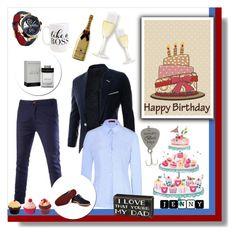 """Happy Birthday My Papa"" by koala889 ❤ liked on Polyvore featuring HUGO, Church's, Moon and Lola, men's fashion and menswear"