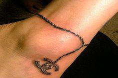 charm tattoo | Charm Anklet tattoo