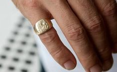 Custom Pinky Signet Ring Custom Made Pinky Signet Ring