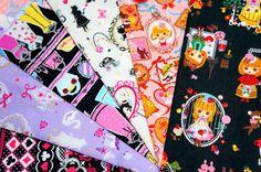 lolita fabric scrap SL56 by beautifulwork on Etsy, $6.50