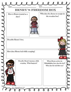 Henrys Freedom Box Summary And Writing Template