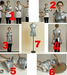 Best 12 Costurera novatilla tutorial maniquí casero dress form making off – Artofit – Page your own customized sewing mannequin. This might be handy to have!How to make a mannequin need duct tape stuffing wrap foil scissor Sewing Hacks, Sewing Crafts, Sewing Projects, Sewing Tips, Diy Clothing, Sewing Clothes, Dress Sewing Patterns, Clothing Patterns, Fashion Sewing