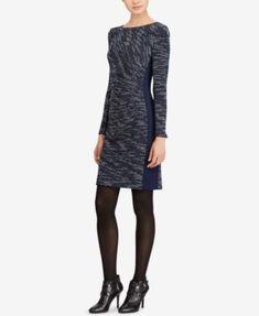 Lauren Ralph Lauren Petite Two-Toned Sheath Dress   macys.com