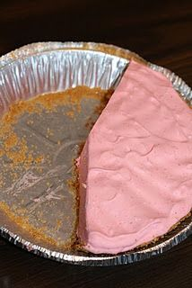 Strawberry Jello Pie (sans graham cracker crust) there's also a kool-aid pie recipe out there that's super sweet