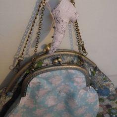 Vous sortez ! sac style romantique shabby chic Liberty et tissus Tilda