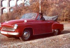 Gugg, das war ich 1983. André im schicken Wartburg 311 Kabriolett vor der Göltzschtalbrücke. Zitat und Bild: An Dre