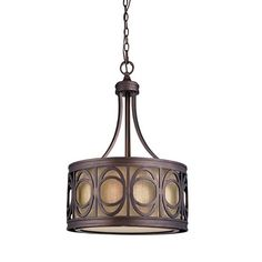 Bring chic style to your home d�cor with this eye-catching luminaire.   Product: PendantConstruction Material: Me...