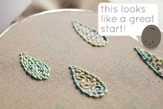 embroidery basics: fill stitches • part 1