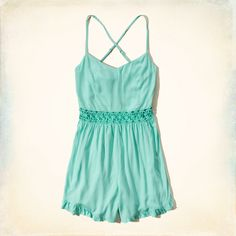 Hollister is the fantasy of Southern California, with clothing that's effortlessly cool and totally accessible. Shop jeans, t-shirts, dresses, jackets and more. Girls Rompers, Girls Dresses, Summer Dresses, New Arrival Dress, Romper Dress, Hollister, Style Inspiration, My Style, Lace